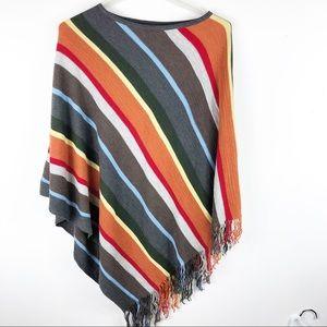 Kerisma Knit Fringe Lightweight Sweater Poncho